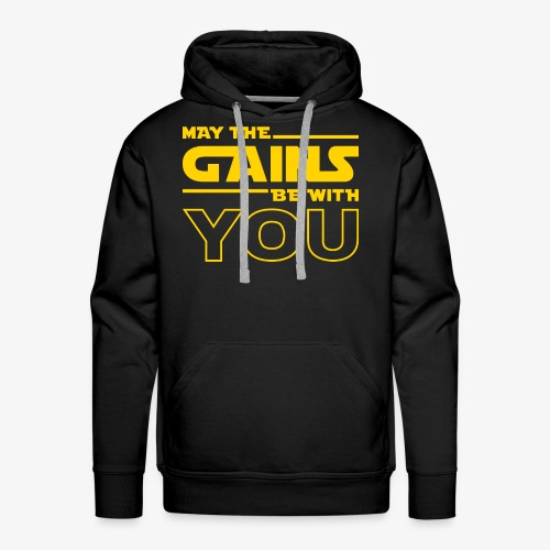 May The Gains Be With You - Men's Premium Hoodie