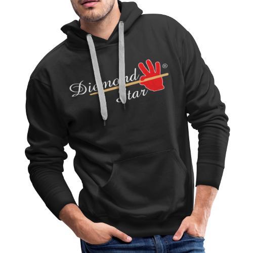 Diemond Star Logo White Font - Men's Premium Hoodie