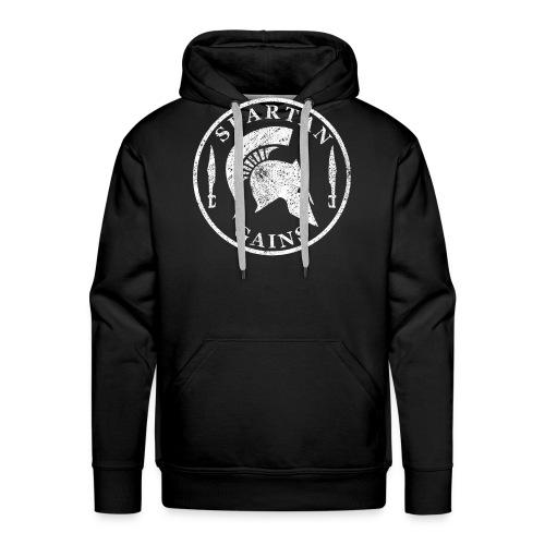 Spartan Gains Logo fuer schwarzes Shirt png - Men's Premium Hoodie