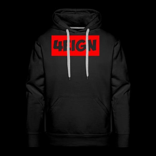 4eign Logo RED - Men's Premium Hoodie