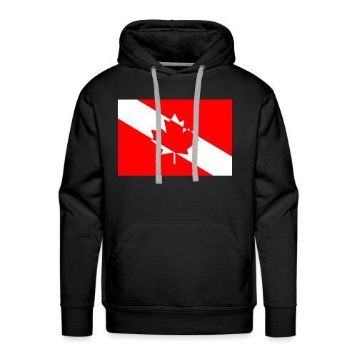 Canadian Diver Flag in Red & White - Men's Premium Hoodie