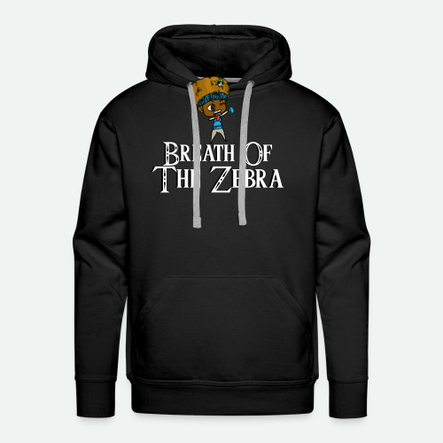 Breath Of The Zebra | Zebra Nation - Men's Premium Hoodie