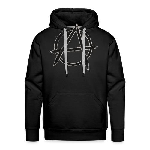 Anarchy in black silver - Men's Premium Hoodie
