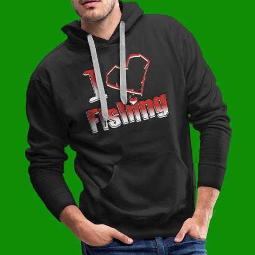 i heart fishing - Men's Premium Hoodie