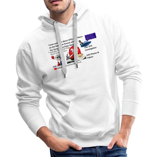 LiveStreamWelcome2 with Crew Back Logo - Men's Premium Hoodie