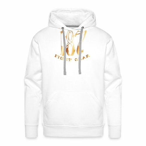 187 Fight Gear Gold Logo Sports Gear - Men's Premium Hoodie