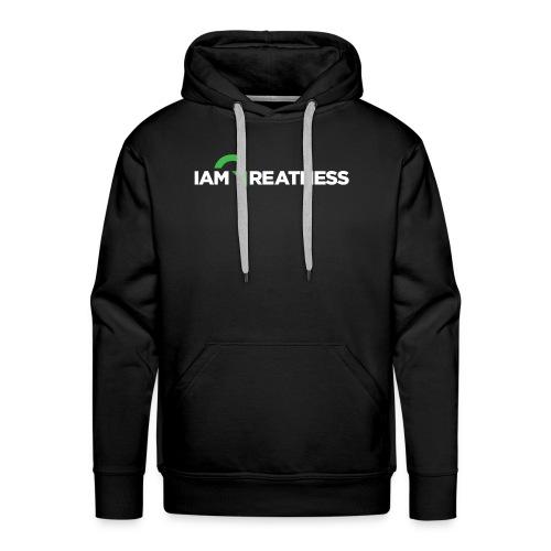 White iAmGreatness Logo - Men's Premium Hoodie