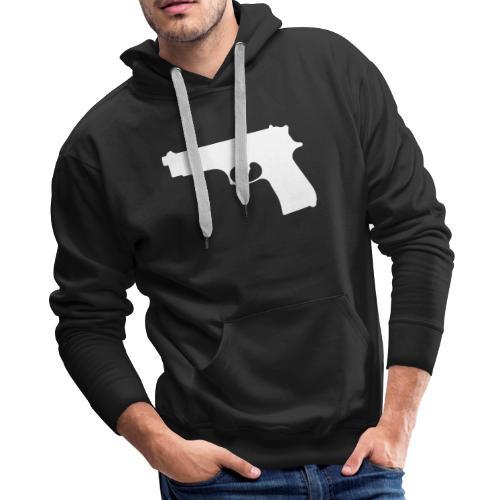Semi-automatic Handgun Silhouette - Men's Premium Hoodie