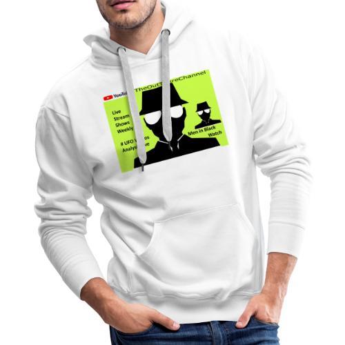 Mib 2 Men with Back Crew Logo - Men's Premium Hoodie