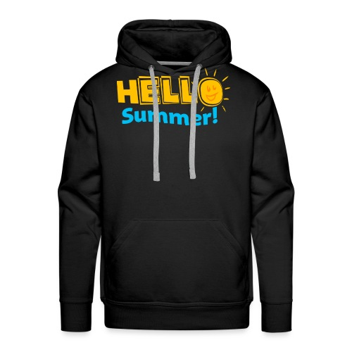 Kreative In Kinder Hello Summer! - Men's Premium Hoodie