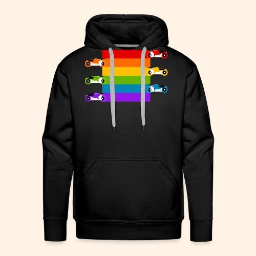 Pride on the Game Grid - Men's Premium Hoodie