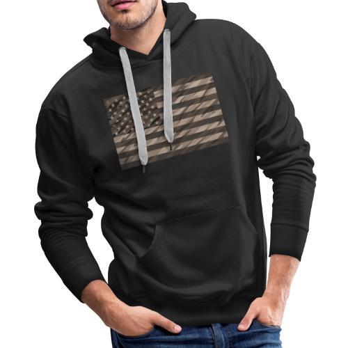 desert cammo flag t - Men's Premium Hoodie