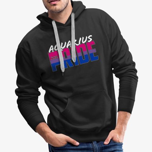 Aquarius Bisexual Pride Flag Zodiac Sign - Men's Premium Hoodie