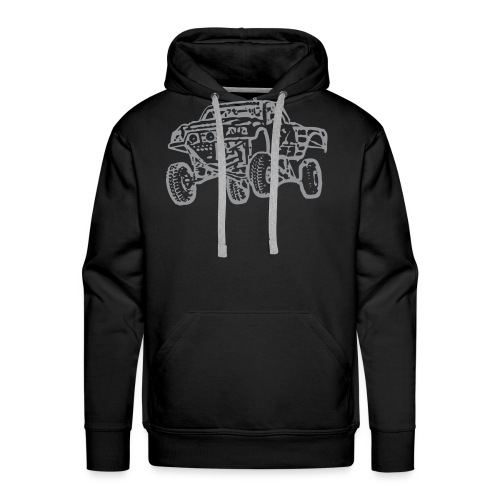 Jump Truck Grey - Men's Premium Hoodie