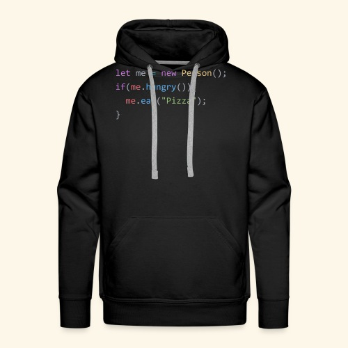Pizza Code - Colored Version - Men's Premium Hoodie