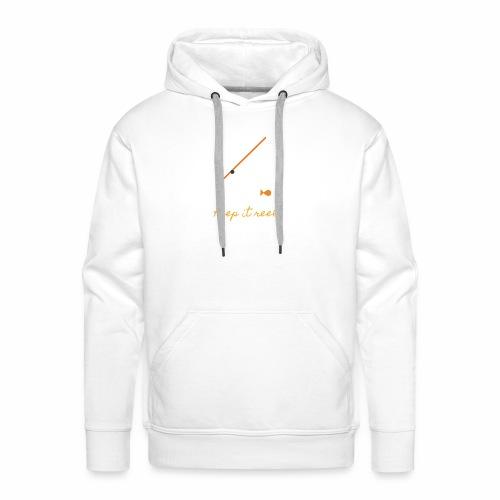 Keep it Reel (Orange) - Men's Premium Hoodie