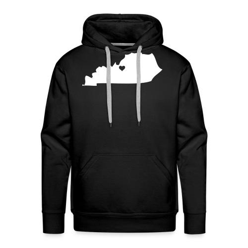 Kentucky Silhouette Heart - Men's Premium Hoodie