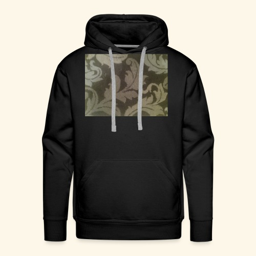 Swirling leaves white and grey style. - Men's Premium Hoodie