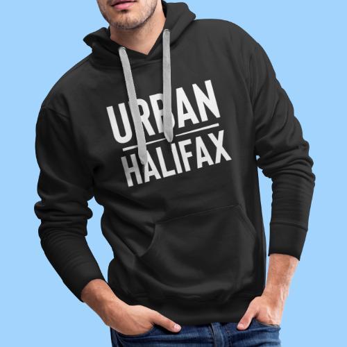 Urban Halifax logo (White) - Men's Premium Hoodie