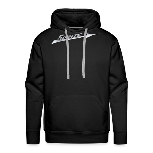 Austin-Healey Sprite silver script emblem - - Men's Premium Hoodie