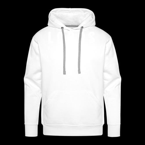 Lobo s Text no apostrophe WHITE - Men's Premium Hoodie
