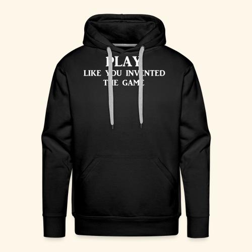 play like game wht - Men's Premium Hoodie