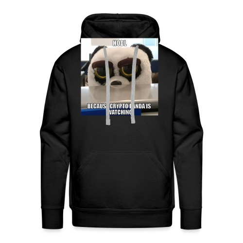 Crypto Panda Is Watching - Men's Premium Hoodie