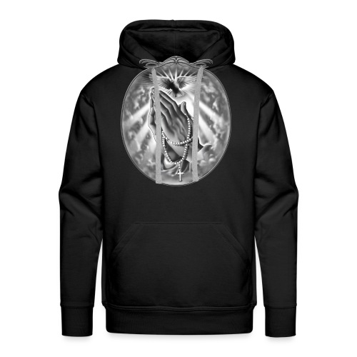Praying Hands by RollinLow - Men's Premium Hoodie