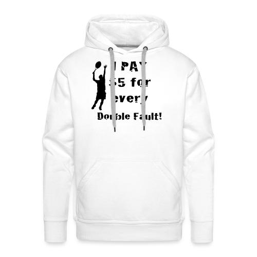 Tennis Double Fault - Men's Premium Hoodie