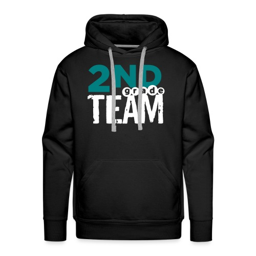 Bold 2nd Grade Team Teacher T Shirts - Men's Premium Hoodie