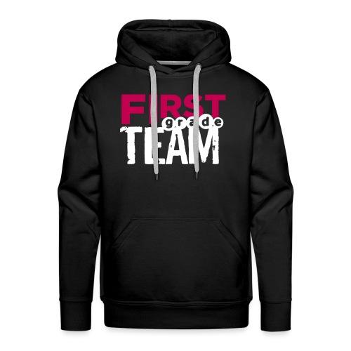 Bold First Grade Team Teacher T-Shirts - Men's Premium Hoodie