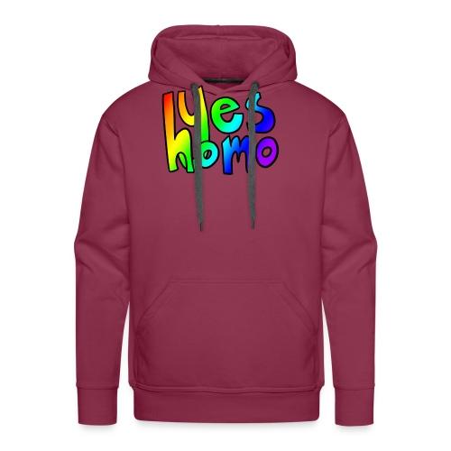 Yes Homo (Rainbow) - Men's Premium Hoodie