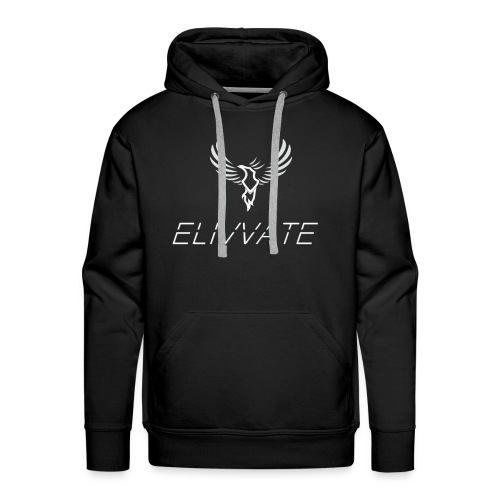 Official White Elivvate Logo - Men's Premium Hoodie