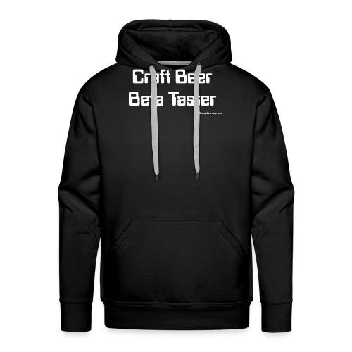 Craft Beer Beta Taster white png - Men's Premium Hoodie