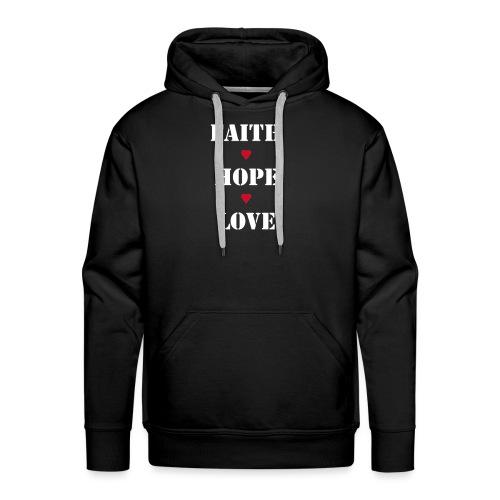 Faith Hope Love - Men's Premium Hoodie