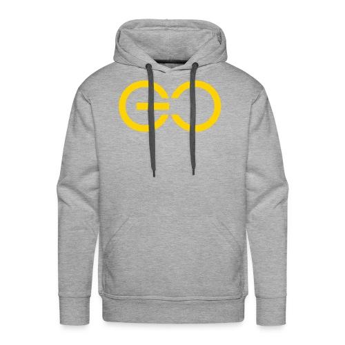 GO logo big - Men's Premium Hoodie