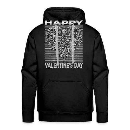 Love Lines Happy Valentines Day Heart - Men's Premium Hoodie