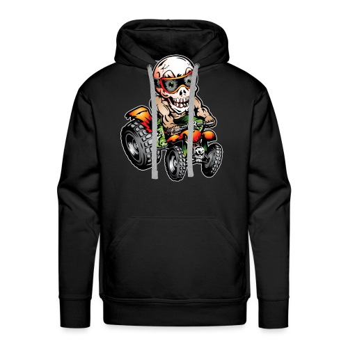 Off-Road ATV Skull Rider - Men's Premium Hoodie