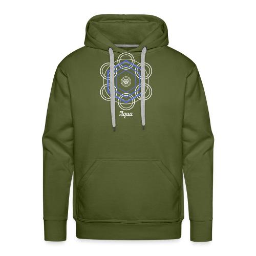 Aqua Water Element Alchemy Design - Men's Premium Hoodie