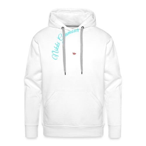 Nikki Glamour Silhouette White Outline - Men's Premium Hoodie