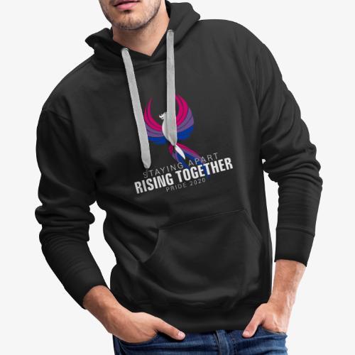 Bisexual Staying Apart Rising Together Pride 2020 - Men's Premium Hoodie
