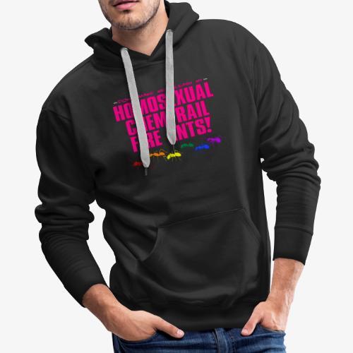 Homosexual Chemtrail Fire Ants - Men's Premium Hoodie