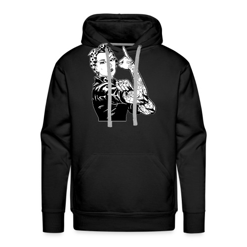 Tattooed Worker - Men's Premium Hoodie