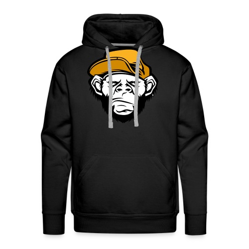 bad monkey face - Men's Premium Hoodie