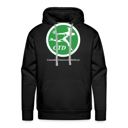 Cannabis Transworld Delivery - Green-White - Men's Premium Hoodie
