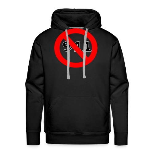 never use 911 records official - Men's Premium Hoodie