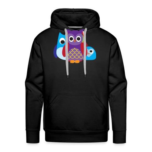 Cute Owls Eyes - Men's Premium Hoodie