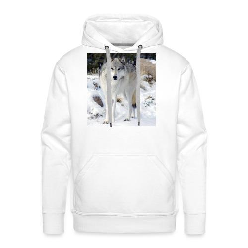 Canis lupus occidentalis - Men's Premium Hoodie
