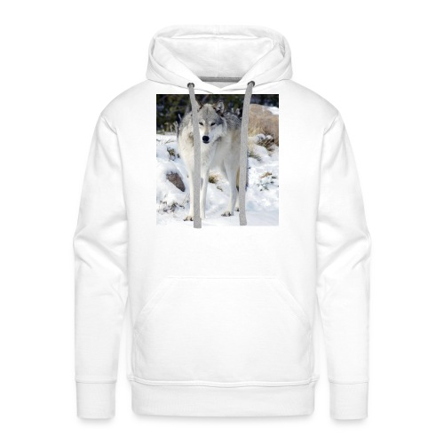 Canis lupus occidentalis - Men's Premium Hoodie