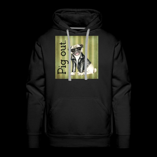 Pig out Pug life - Men's Premium Hoodie